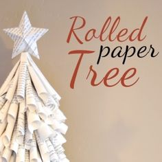 "Upcycle an old book into a Christmas Tree!   -- Please tell me I'm not the only one who cringes each time I hear about using ""old books"" for things. I love books too much to tear them up, although I do love the look of the pages, I couldn't do it!!"