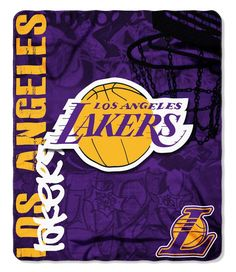 Los Angeles Lakers 50x60 Fleece Blanket - Hard Knock Design