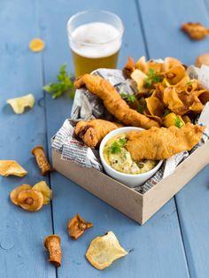 fish & chips crisp winter vegetables
