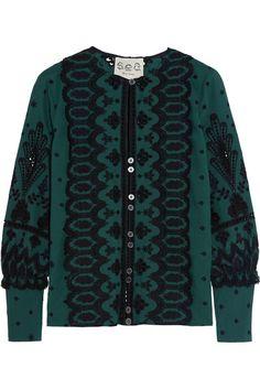 SEA | Bluse aus Baumwolle mit Lochstickerei | NET-A-PORTER.COM