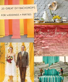 20 Great DIY Wedding Backdrop Ideas | Though, they would work well for other occasions, too.