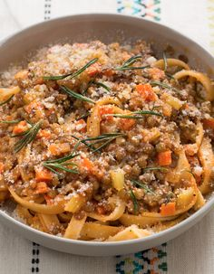 In this recipe, we're putting a gourmet, vegetarian spin on classic bolognese.