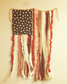 Cute flag wall hanging!