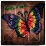 Rainbow butterfly -- perler beads