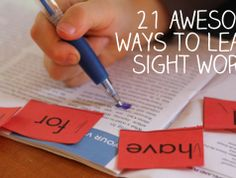 21 Awesome Ways to Learn Sight Words