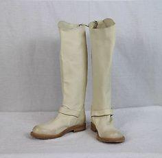 New Brunello Cucinelli Women's Off White Soft Calfskin Boots 37 7 | eBay