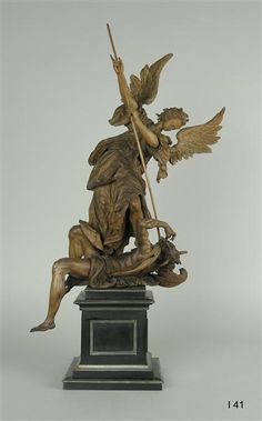 Archangel Michael fighting with the devil  Munich or Augsburg to, 1595-1600
