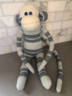 I made this sock monkey using Stance crew socks! Crew Socks, Monkey, Dinosaur Stuffed Animal, Toys, Animals, Activity Toys, Jumpsuit, Animales, Animaux