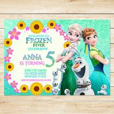 Online invitations from girl birthday ideas pinterest disney do you have a big frozen fever fan at home thats just craving a frozen fever birthday party then look no further than this unique frozen fever filmwisefo