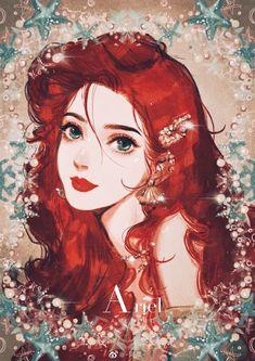 Ariel the Little Mermaid Disney Animation, Disney Pixar, Disney Princess Cartoons, Disney Princess Art, Disney Fan Art, Disney Cartoons, Disney And Dreamworks, Disney Kunst, Arte Disney