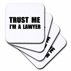 3dRose Trust Me Im a Lawyer  Fun Law Humor  Funny Job Work Office Gift  Ceramic Tile Coasters Set of 4 cst_195611_3 * Find out more about the great product at the image link.Note:It is affiliate link to Amazon.