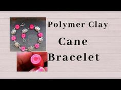 How To Make Simple Cane & Bracelet Polymer Clay Bracelet, Polymer Clay Canes, Metal Beads, Glass Beads, Make Tutorial, Clay Texture, Wire Wrapped Bracelet, Bracelet Tutorial, Clay Tutorials