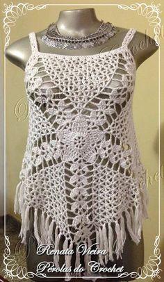 * Pérolas do Crochet: Blusa em crochet modelo Gypsy com PAP