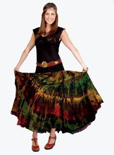 Tie Dye Mudmee Skirt by TheTreasuredHippie on Etsy