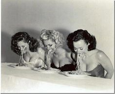 As part of Europa's 25th Anniversary celebrations I think we should have a spaghetti eating competition just like the one in this picture what do you think?