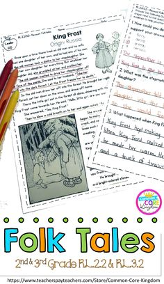 Are you looking for and grade folktale and fairytale reading comprehension passages for Common Core Standard and These folktale and fairytale passages will make using text evidence in passages engaging. Students color code their ans Reading Lessons, Reading Resources, Reading Activities, Guided Reading, Teaching Reading, Reading Strategies, Reading Groups, Close Reading, Learning