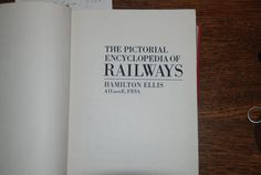 Vintage book: The Pictorial Enclyclopedia of Railways by LadyCat
