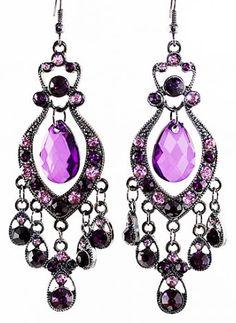 #purple crystal drop earrings http://rstyle.me/n/ik242pdpe