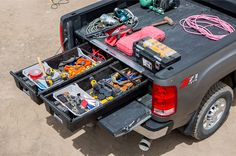 Fleet Truck Application of the DECKED Bed Organizer System