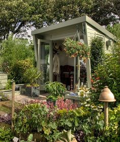 Shed Plans - The Fairytale Shed: 'She Sheds' We'd Love to Have - mom.me - Now You Can Build ANY Shed In A Weekend Even If You've Zero Woodworking Experience! Wood Shed Plans, Diy Shed Plans, Garden Buildings, Garden Structures, Outdoor Sheds, Outdoor Rooms, Shed Landscaping, Gazebo, Pergola
