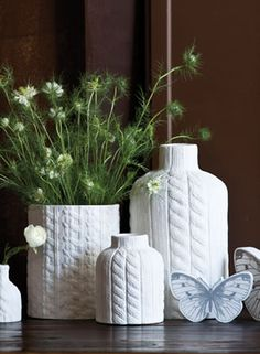 Liking the cable-knit style of these vases