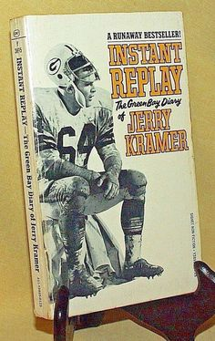 INSTANT REPLAY GREEN BAY DIARY JERRY KRAMER SIGNET Y3895 1969 PACKERS FOOTBALL