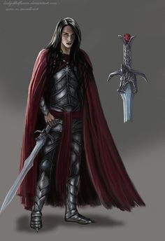 Caranthir, son of Feanor Calenmir, Queen of the Silvan Elves, and King Thranduil, son of Oropher Hidden in a ravine west of the Mist. Fantasy Male, Fantasy World, Character Inspiration, Character Art, Werewolf Hunter, History Of Middle Earth, Pathfinder Character, Elf Art, Jrr Tolkien