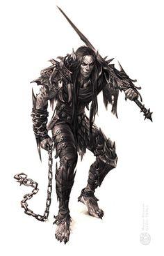 Dark elf by gugu-troll