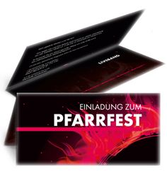 Einladungen jetzt günstig online kaufen. #einladungskarte #pfarrfest #einladungskartendesign