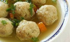 Ashkenazic Chicken Soup and Matzo Balls with Fresh Dill recipe: Try this Ashkenazic Chicken Soup and Matzo Balls with Fresh Dill recipe, or contribute your own. Chicken Potato Soup, Chicken Soup Recipes, Passover Recipes, Jewish Recipes, Israeli Recipes, Protein Smoothies, Avocado Smoothie, Dill Recipes, Gourmet Recipes