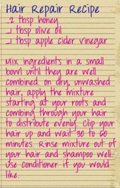 Hair Repair Recipe!