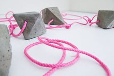 Suspended Cement Decor - This Concrete Bauble Garland Turns Industrial Style Endearing (GALLERY)