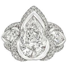 Mauboussin 3.05 Carat Pear-Shaped Diamond Ring | La Beℓℓe ℳystère