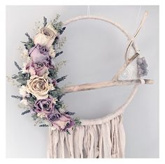 Meadow and Moss Dreamcatcher Dream Catcher Wedding, Dream Catcher Boho, Diy Wreath, Wreaths, Small Bookshelf, Seashell Candles, Dreamcatchers, Moon Dreamcatcher, Diy Home Decor