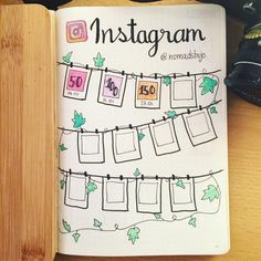Sweet Instagram tracker from @nomadsbujo . . Did you know we get a bunch of cool discounts for bujo stuff? Have a look in our links and go…
