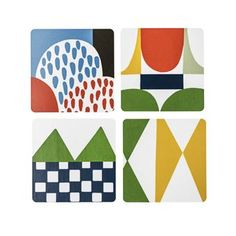 The Bows glass coasters by Almedahls were designed by Josef Frank – an Austrian-Swedish architect who is known for his bold choices in color and shape. This particular design was designed between 1920 and 1930 and is easily recognized as a Josef Frank design. A great gift idea for a design-enthusiast!