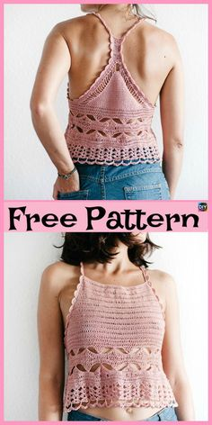15 Most Beautiful Crochet Crop Top Free Patterns . - - 15 Most Beautiful Crochet Crop Top Free Patterns Fashion Outfits-summer clothes-clothes-fashion outfits-summer fas. Crochet Summer Tops, Crochet Halter Tops, Crochet Crop Top, Crochet Bikini, Crochet Summer Dresses, Débardeurs Au Crochet, Crochet Shirt, Crochet Woman, Crochet Vests