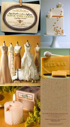 Honey and Pecan Color Palette for A Wedding that is Truly 'Meant to Bee' - My Wedding Reception Ideas | Blog