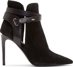 Burberry London Black Suede Finford Ankle Boots | FW 2014 | cynthia reccord