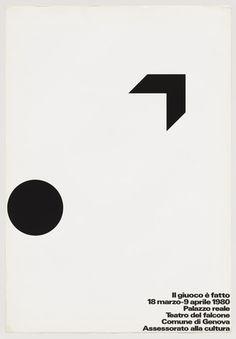 """Il Giuoco é Fatto  A. G. Fronzoni (Italian, 1923-2002)    1980. Lithograph, 39 3/16 x 27 1/16"""" (99.6 x 68.8 cm)."""