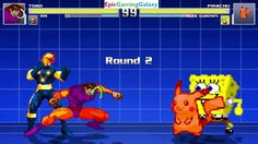 SpongeBob SquarePants & Pikachu The Pokemon VS Toad & Nova In A MUGEN Match / Battle / Fight This video showcases Gameplay of Pikachu The Electric Type Pokemon And SpongeBob SquarePants VS Toad The Supervillain And Nova The Superhero In A MUGEN Match / Battle / Fight