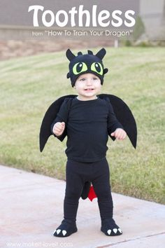 "How to Train Your Dragon ""Toothless"" Halloween Costume"