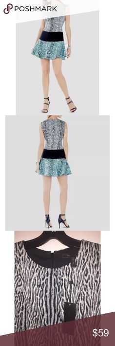 Bcbg black comb Lillian animal print dress NWT! NEW BCBG MAX AZRIA BLACK COMBO LILLIAN ANIMAL PRINT DRESS  ZJL67F37 SIZE: 2 $248.00 (BRAND NEW WITH TAGS) DETAILS: Flirty fit and flare with a fun animal print. Give them a captivating display of design with this expertly animal print-blocked dress.  Round neckline. Back zipper. Lined. Animal print-blocking. Seamed waistline. A-line skirt. Self/Contrast 1 & 2: Polyester crepe. Lining: Polyester crepe de chine. Hand Wash. Imported. Measures…