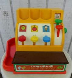 Vintage Fisher Price Cash Register 70s Toy Child by kerrilendo, $12.00