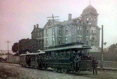 Trolley in front of Hamot Hospital.