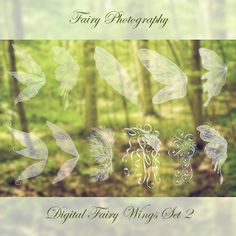 11 Fairy Wings Photoshop BRUSHES Set 2 by FairyPhotography on Etsy