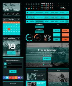 In this round-up, we have gathered some of best Free PSD UI Kits for website design and mobile apps. Test Video, Op Logo, Ui Kit, Mobile App, Surfing, Banner, Free, Design, Banner Stands
