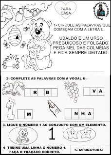 Para Casa Letra U - Educação Infantil Sistema Solar, Word Search, Diagram, Words, Bingo, Professor, 1, Lyrics, Solar System