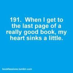 Definitely. I'm always so sad it's over!