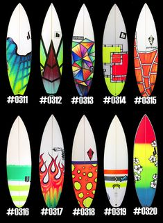 Surfboard Sprays | Surfboardsprays.com Surfboard Painting, Surfboard Shapes, Surfboard Art, Surf Spray, Custom Surfboards, Surf Design, Painted Boards, Paint Designs, Coastal Decor